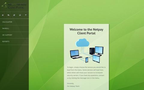 Screenshot of Login Page netpaypayroll.com - Netpay Clients Portal - captured Feb. 23, 2016