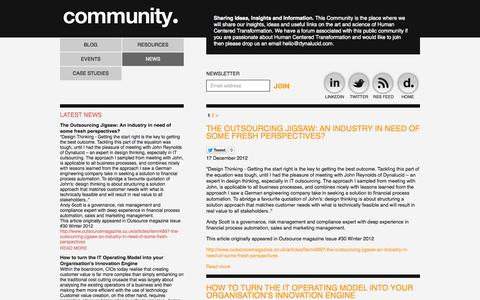 Screenshot of Press Page dynalucid.com - Community - Dynalucid - captured Sept. 30, 2014
