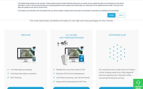 Screenshot of Pricing Page skycatch.com - Pricing | Skycatch - captured Sept. 25, 2018