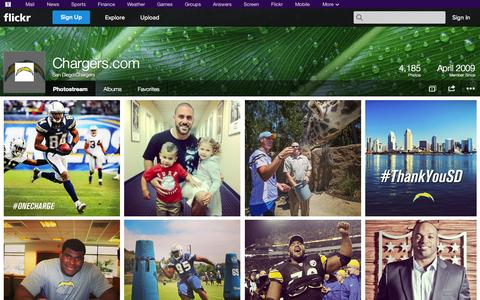 Screenshot of Flickr Page flickr.com - Flickr: San Diego Chargers' Photostream - captured Oct. 23, 2014