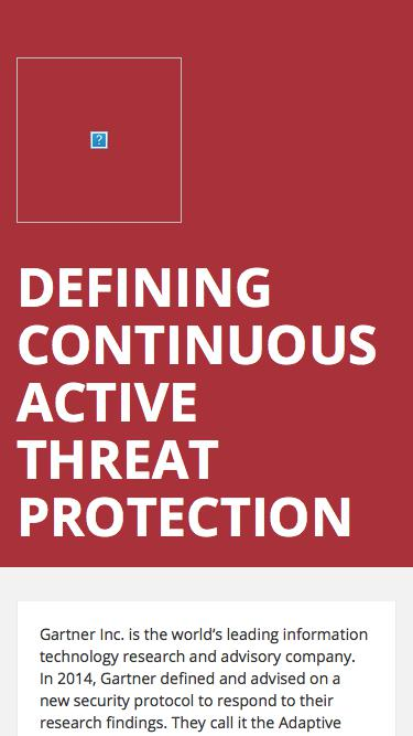 Defining Continuous Active Threat Protection