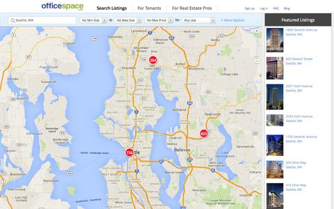 Screenshot of Maps & Directions Page officespace.com - Office Space for Lease & Rent | OfficeSpace.com - captured Nov. 3, 2014