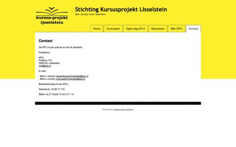 Screenshot of Contact Page kpij.nl - Contact - captured Sept. 30, 2014