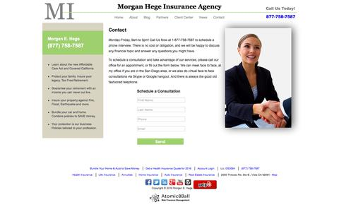 Screenshot of Contact Page morganhege.com - Contact Morgan Hege Insurance Agency, LLC - captured Dec. 13, 2016