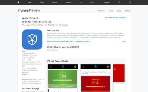 ActiveShield on the App Store
