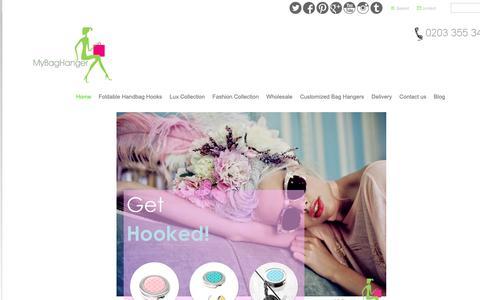 Screenshot of Home Page mybaghanger.com - Handbag Hooks for tables  - Handbag Hook | Handbag Hanger | Bag Holder | Purse Hook - captured Oct. 1, 2018