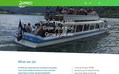 Screenshot of Jobs Page ppro.com - Careers • PPRO Group - captured Sept. 25, 2018