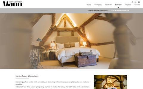 Screenshot of Services Page vannfid.com - Vann-FID | Lighting Design & Consultancy - captured Nov. 4, 2014