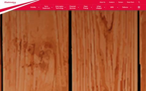 Screenshot of Home Page mahindra.com - Mahindra.com | Rise - captured Jan. 2, 2016