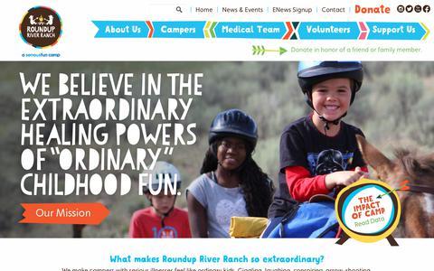 Screenshot of Home Page roundupriverranch.org - Roundup River Ranch: Welcome to Roundup River Ranch - captured Dec. 6, 2017