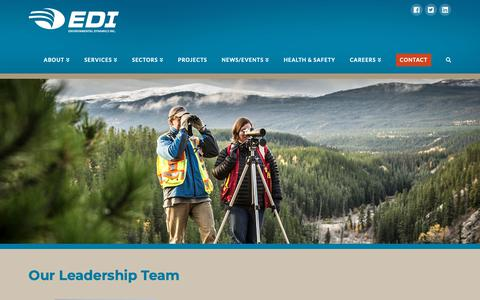 Screenshot of Team Page edynamics.com - Our Team - EDI - captured Nov. 9, 2018