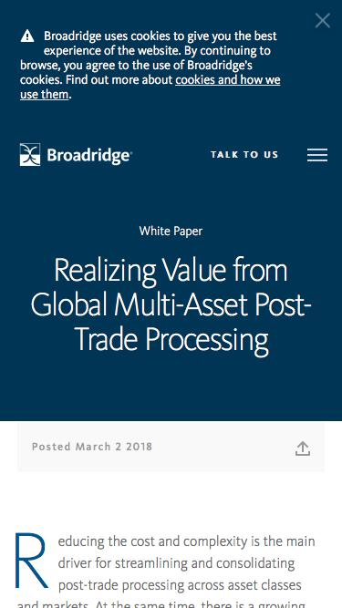 Realizing Value from Global Multi-Asset Post-Trade Processing | Broadridge
