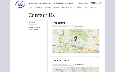 Screenshot of Maps & Directions Page idesystems.co.uk - Directions to ide Systems - captured Oct. 6, 2014