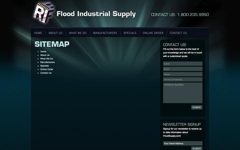 Screenshot of Site Map Page floodsupply.com - Sitemap | Flood Supply - captured Oct. 6, 2014