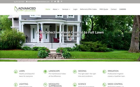Screenshot of Home Page advancedlawnsolutions.com - Advanced Lawn Solutions - captured July 24, 2016