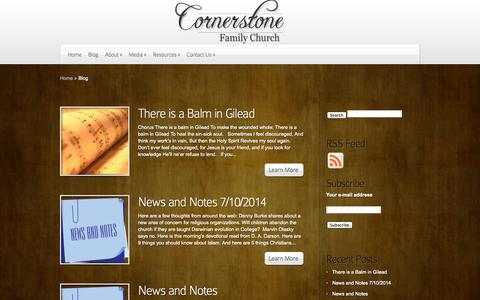 Screenshot of Blog cfctn.net - Blog | Cornerstone Family Church - captured Oct. 3, 2014