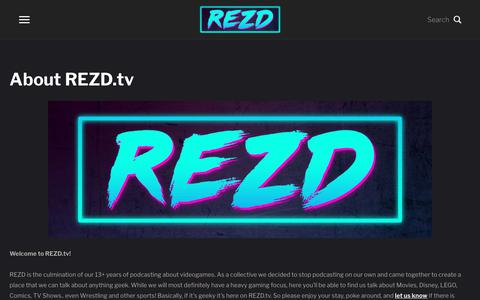Screenshot of About Page rezd.tv - About REZD.tv – REZD.tv - captured Oct. 23, 2018