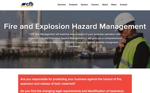 Screenshot of Signup Page cfbriskmanagement.com - Fire and Explosion Hazard Management | CFB Risk Management - captured May 11, 2017