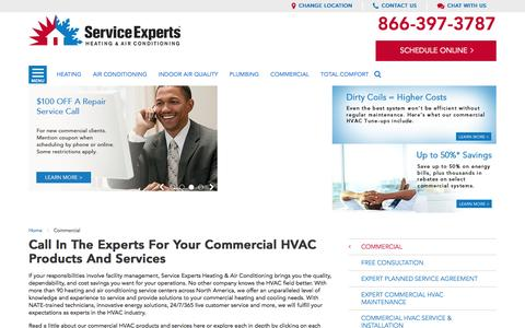 Commercial HVAC Products and Services in your city | Service Experts
