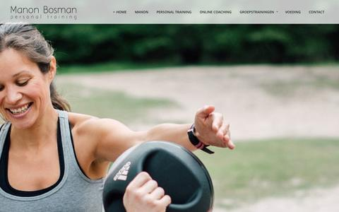 Screenshot of Home Page manonbosman.nl - Manon Bosman • Personal Training - captured Oct. 1, 2014