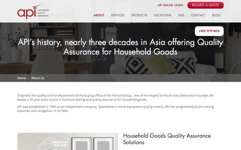 About API | Quality Assurance For Household Goods