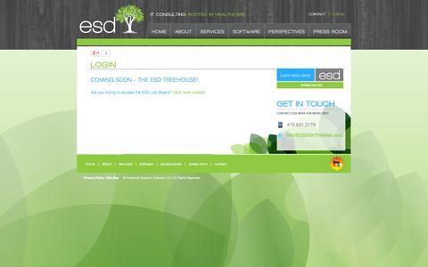 Screenshot of Login Page esdontheweb.com - LOG-IN - captured Oct. 3, 2014
