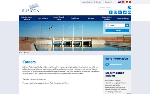 Screenshot of Jobs Page rubiconwater.com - Careers | Rubicon Water | Rubicon Water - captured Sept. 21, 2018
