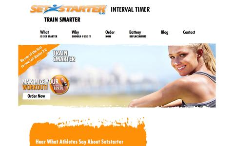 Screenshot of Testimonials Page setstarter.com - Testimonial on Interval Training Timer   Set Starter - captured Feb. 14, 2016