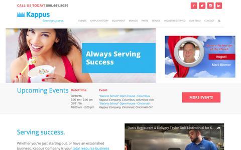Screenshot of Home Page kappuscompany.com - Kappus Company   Home - captured Aug. 8, 2016