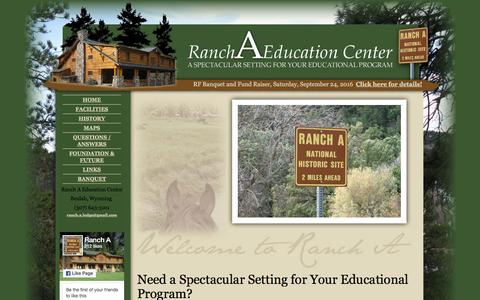 Screenshot of Home Page Maps & Directions Page rancha.com - Ranch A Educational Center in Beulah, Wyoming, perfect for conferences, conventions, and business and professional meetings - captured June 16, 2016