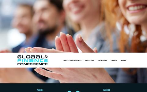 Screenshot of Home Page globalfinanceconference.com - Global Finance Conference | For Finance Professionals Global Finance Conference - captured Sept. 13, 2015