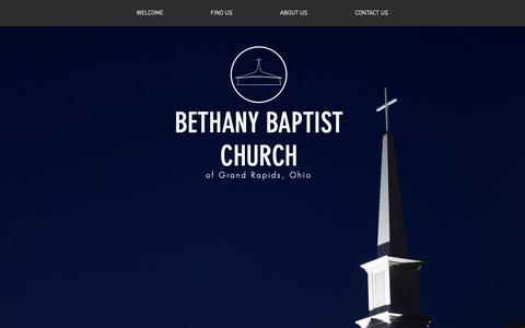 Screenshot of Home Page bethanygr.org - bethanygr - captured Oct. 31, 2018