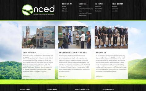 Screenshot of Home Page nodaway.biz - Nodaway County Economic Development - Where Business Starts. - captured Dec. 1, 2016