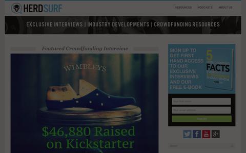 Screenshot of Home Page herdsurf.com - HerdSurf -  HerdSurf   Exclusive Interviews   CrowdFunding Resources - captured Sept. 30, 2014