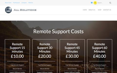 Screenshot of Pricing Page bournemouth-computer-sales.co.uk - remote support - captured Feb. 5, 2016