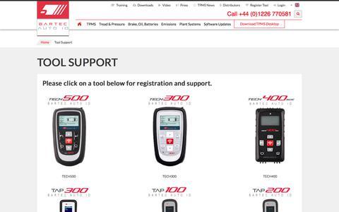 Screenshot of Login Page bartecautoid.com - Tool Support | Bartec Auto ID - captured Oct. 10, 2017
