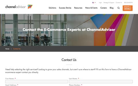 Screenshot of Contact Page channeladvisor.com - Contact a ChannelAdvisor E-Commerce Expert - captured May 18, 2017