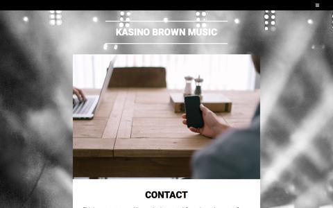 Screenshot of Contact Page wordpress.com - Contact – Kasino Brown Music - captured Sept. 20, 2018