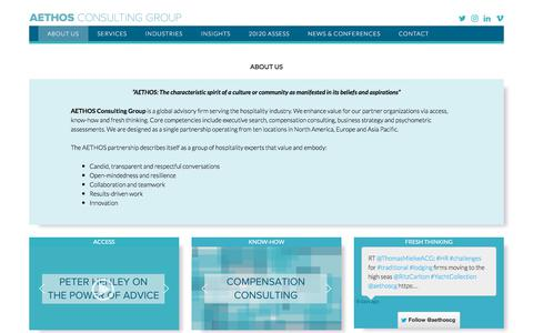 Screenshot of About Page aethoscg.com - ABOUT US – AETHOS Consulting Group - captured Oct. 6, 2017