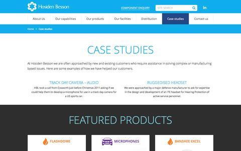 Screenshot of Case Studies Page hbl.co.uk - Case Studies - Hosiden Besson | HBL - captured Nov. 11, 2016