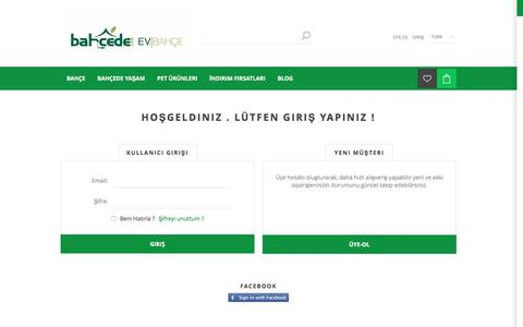 Screenshot of Login Page bahcede.com - Giriş - captured Nov. 22, 2016