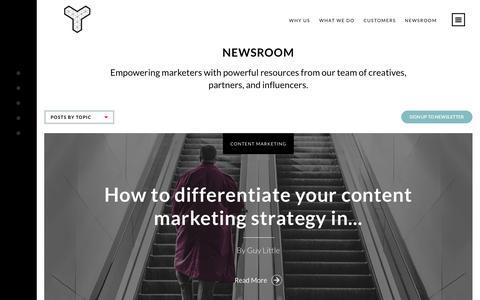 Screenshot of Blog Press Page tomorrow-people.com - Newsroom | Tomorrow People - captured June 25, 2018