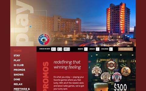 Screenshot of Home Page downstreamcasino.com - Downstream Casino Resort - captured Oct. 9, 2018