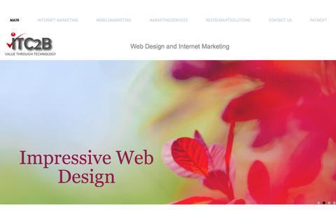 Screenshot of Home Page itc2b.com - Main      Web Design and Internet Marketing - captured June 17, 2015