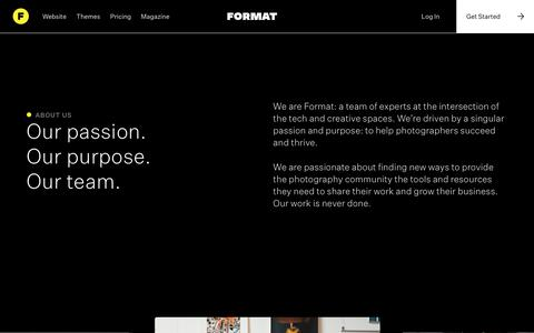 Screenshot of About Page format.com - About Us Website | Format - captured Jan. 9, 2020