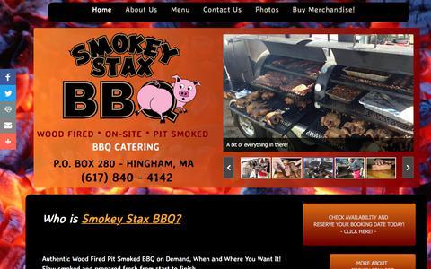 Screenshot of Home Page smokeystaxbbq.com - Smokey Stax BBQ Catering - captured Oct. 24, 2017