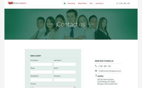 Screenshot of Contact Page mordorintelligence.com - Contact us   Mordor Intelligence - captured Sept. 30, 2014
