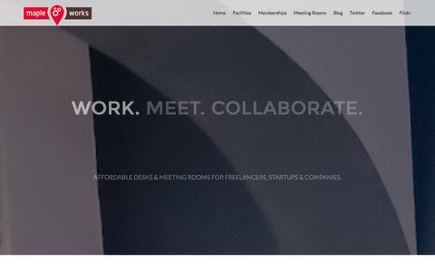 Screenshot of Home Page mapleworks.co.uk - Maple Works Surbiton - captured Sept. 29, 2014