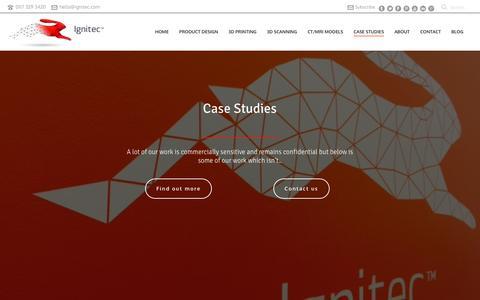 Screenshot of Case Studies Page ignitec.com - Case studies - Ignitec - captured Dec. 1, 2015