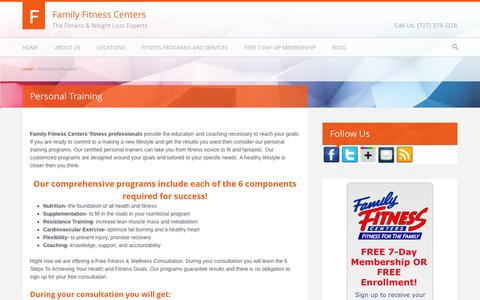 Screenshot of Signup Page familyfitnesscenters.net - Family Fitness Personal Training New Port Richey - Hudson Florida | Family Fitness Centers - captured Sept. 30, 2014